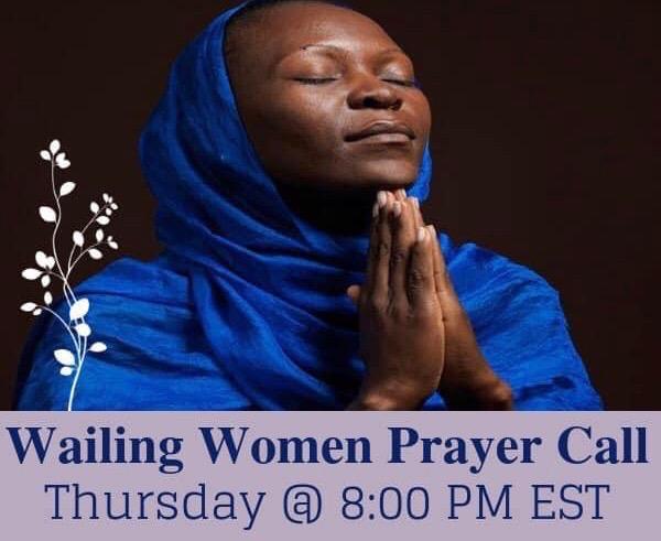Wailing Women Prayer Call Flyer